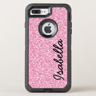 PINK GLITTER PRINTED OtterBox DEFENDER iPhone 8 PLUS/7 PLUS CASE
