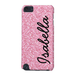 PINK GLITTER PRINTED PERSONALIZED iPod TOUCH (5TH GENERATION) CASES