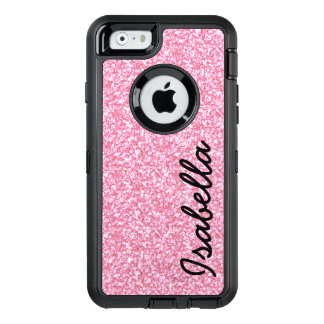 PINK GLITTER PRINTED PERSONALIZED OtterBox DEFENDER iPhone CASE