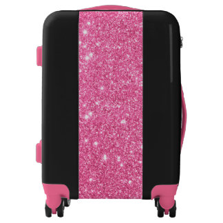 Pink Glitter Ready Set Go Luggage