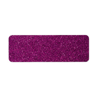 Pink Glitter Return Address Label