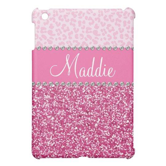 Pink Glitter Rhinestone Leopard BLING Case iPad iPad
