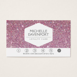 PINK GLITTER Salon Loyalty Card