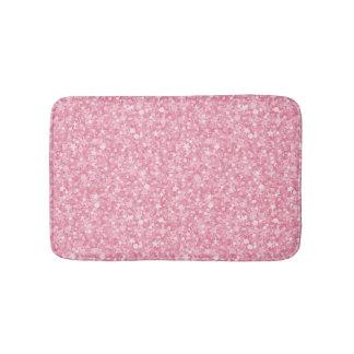 Pink Glitter Silver Bath Mat
