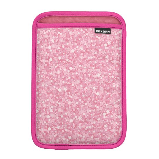 Pink Glitter Silver Gradient iPad Mini Sleeve