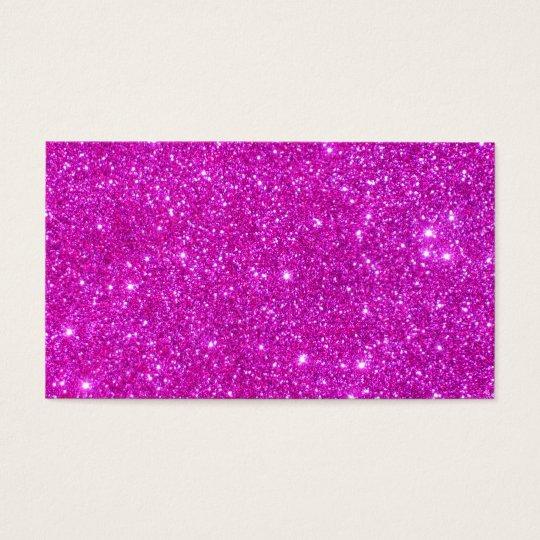 Pink Glitter Sparkle Customisable Design Business Card
