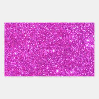 Pink Glitter Sparkle Customizable Design Rectangular Sticker
