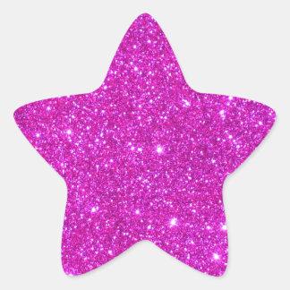 Pink Glitter Sparkle Customizable Design Sticker