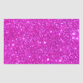 Pink Glitter Sparkle Customizable Design Stickers