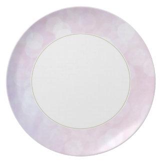 Pink glitter / sparkles (matt) plate