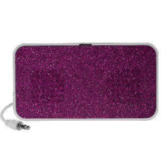 Pink Glitter Travel Speakers