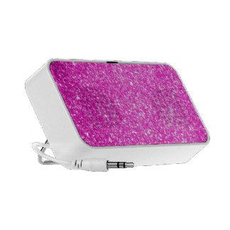 Pink Glitter Laptop Speakers