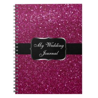 Pink Glitter Spiral Notebook