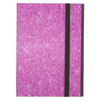 Pink glitter stars iPad air cover