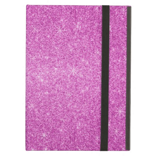 Pink glitter stars iPad case