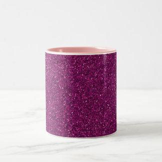 Pink Glitter Two-Tone Coffee Mug