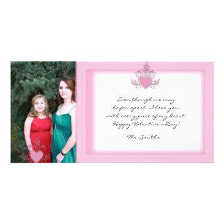 Pink Glitter Valentine Photo Card