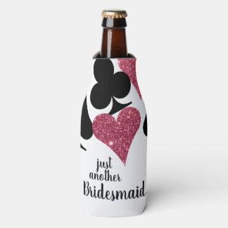 Pink Glitter Vegas Bridesmaid Custom Bottle Cooler