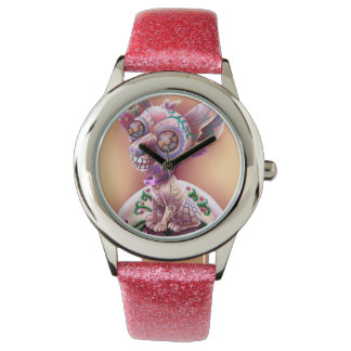 Pink Glitter watch Chico The Chihuahua