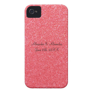 Pink glitter wedding favors Case-Mate iPhone 4 cases