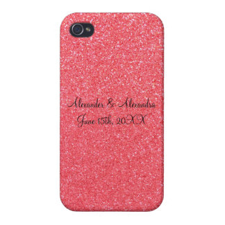 Pink glitter wedding favors covers for iPhone 4