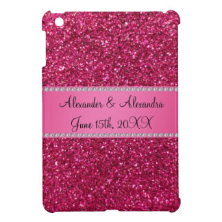 Pink glitter wedding favors iPad mini cases
