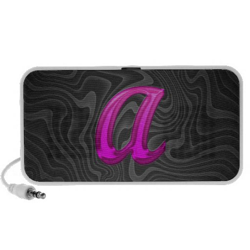 Pink Glittery Initial - A