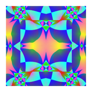 Pink Glow Geometric Design Wrapped Canvas