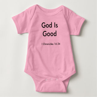 Pink God is Good one-piece Baby Bodysuit