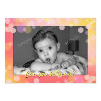 Pink Gold Baby Photo Milestone Older Birthday 13 Cm X 18 Cm Invitation Card