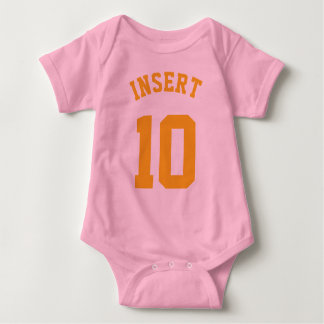 Pink & Gold Baby   Sports Jersey Design T-shirt
