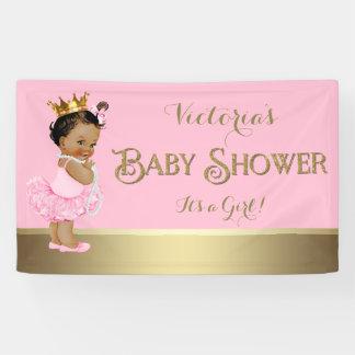 Pink Gold Ballerina Tutu Pearl Baby Shower