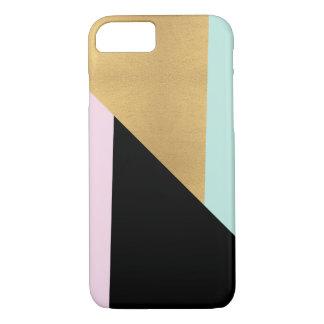 Pink Gold Black Teal Modern iPhone Phone Case