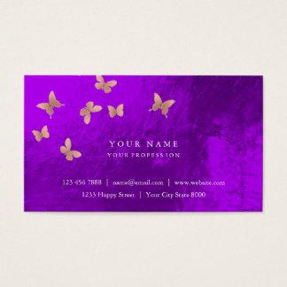 Pink Gold Blush Cooper Purple Amethyst Metallic Business Card