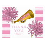 Pink | Gold Cheer Cheerleader Girl Birthday Party Postcard