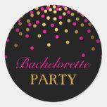 Pink & Gold Confetti Bachelorette Sticker