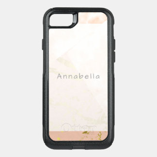 Pink Gold Feminine Marble Collage For Her OtterBox Commuter iPhone 8/7 Case