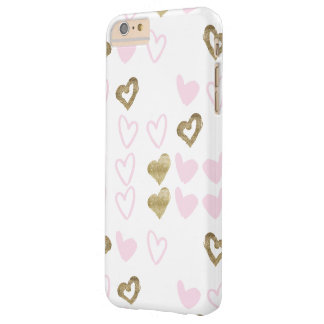 Pink & Gold Hearts Phone Case