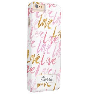 Pink & Gold Love Monogram Phone Case
