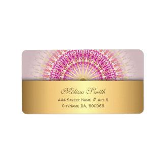 Pink Gold Mandala Label