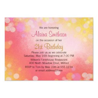 Pink Gold Older Teen Girls Birthday 13 Cm X 18 Cm Invitation Card