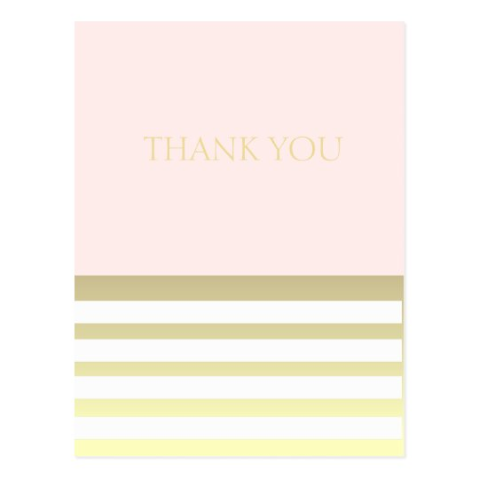 Pink & Gold Personal or Business Thank You Postcard
