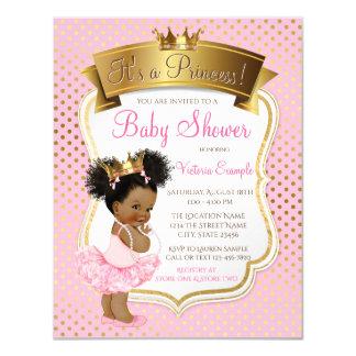 Pink Gold Princess Baby Shower Invitations