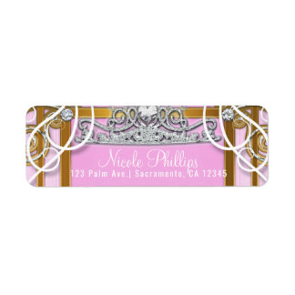 Pink Gold Princess Crown & Carriage Sweet 16 Party
