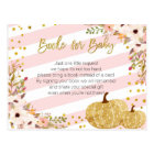 Pink Gold Pumpkin Books for Baby Postcard