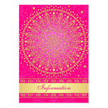 Pink, Gold Scrolls, Stars Wedding Enclosure Card Pack Of Chubby Business Cards