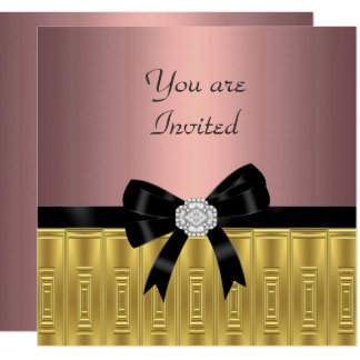 Pink Gold Stylish Party Invitation