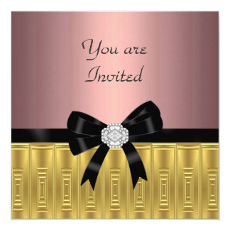 Pink Gold Stylish Party Invitation