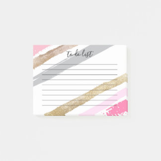 Pink & Gold To Do List Post-It Notes