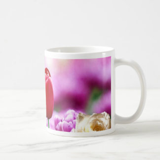 Pink Gold Tulip Floral Landscape Realism Collectio Coffee Mug